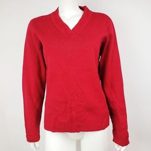 NWT Hanna Andersson Red Embroidered Top Medium